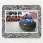 El encresparse - limpie la casa Mousepad Alfombrillas De Ratones