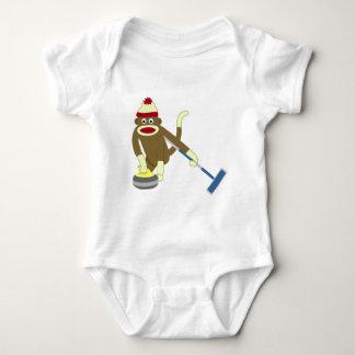El encresparse olímpico del mono del calcetín body para bebé