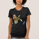 El encresparse olímpico del mono del calcetín camisetas