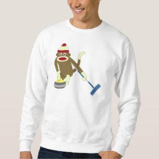 El encresparse olímpico del mono del calcetín pulover sudadera