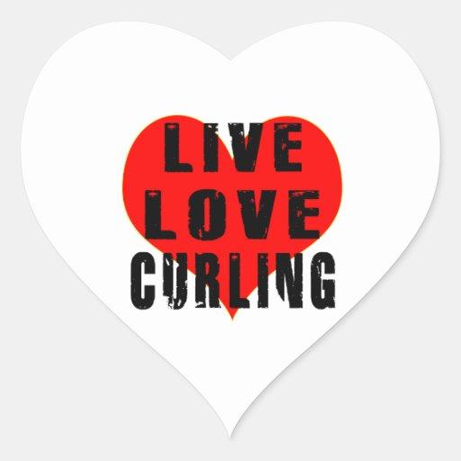 El encresparse vivo del amor pegatinas de corazon personalizadas