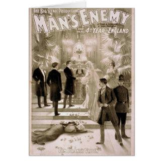 El enemigo del hombre teatro del vintage de Visi Felicitaciones