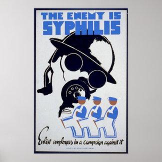 El enemigo es sífilis poster