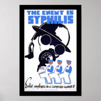 El enemigo es sífilis póster
