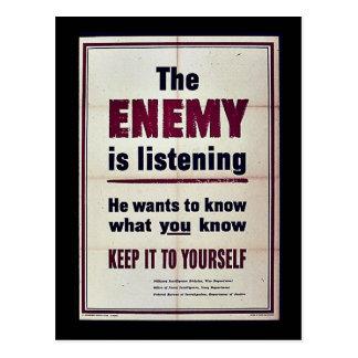 El enemigo está escuchando postal