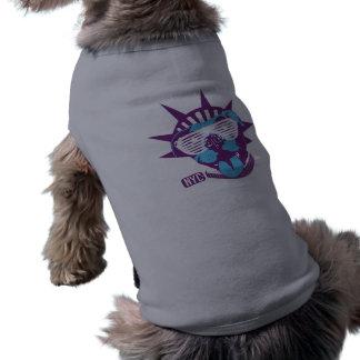 """El """"enemigo sombrea"""" la camiseta del campanero del playera sin mangas para perro"""