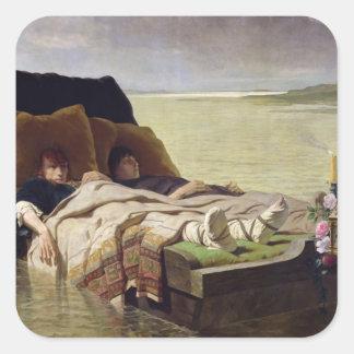 El Enerves de Jumieges, 1880 Calcomania Cuadradas