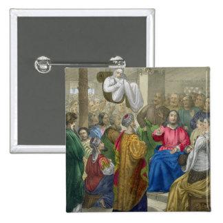 El enfermo de la parálisis trajo a Cristo por su F Pin Cuadrada 5 Cm