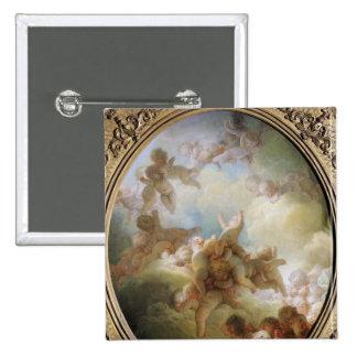 El enjambre de los Cupids, c.1767 Pin Cuadrada 5 Cm