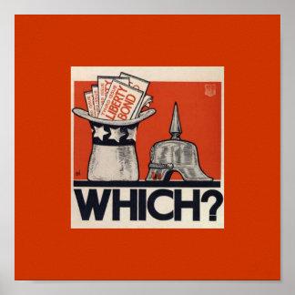 ¿El enlace de la libertad del vintage WW1 pregunta Póster