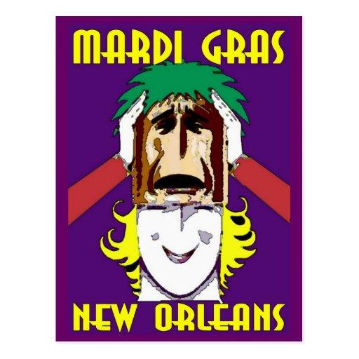 El enmascarar del carnaval tarjetas postales
