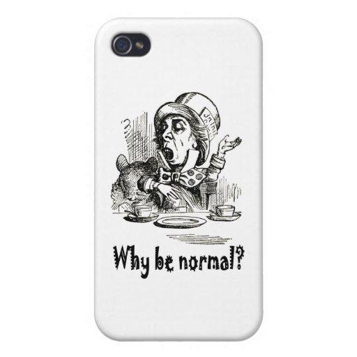 """¿El enojado ella pide, """"por qué sea normal? """" iPhone 4/4S Carcasas"""