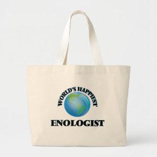 El Enologist más feliz del mundo Bolsa Tela Grande