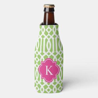 El enrejado en rosado y pone verde el refrigerador enfriador de botellas