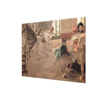 El ensayo de Edgar Degas, arte del ballet del Impresión En Tela