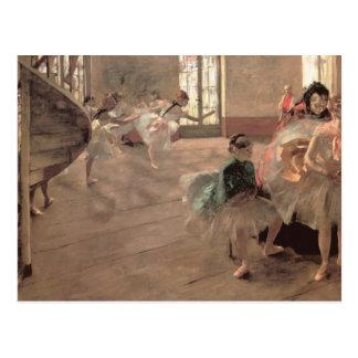 El ensayo de Edgar Degas, arte del ballet del Postales