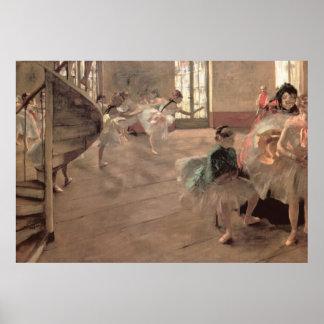 El ensayo de Edgar Degas, arte del ballet del Póster