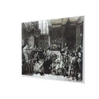 El ensayo de señor Guillermo Russell Lienzo Envuelto Para Galerias