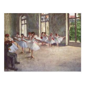 El ensayo del ballet cerca desgasifica postal