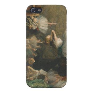 El ensayo del ballet en el escenario - Edgar Degas iPhone 5 Carcasas