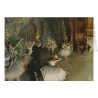 El ensayo del ballet en el escenario - Edgar Degas Tarjeta
