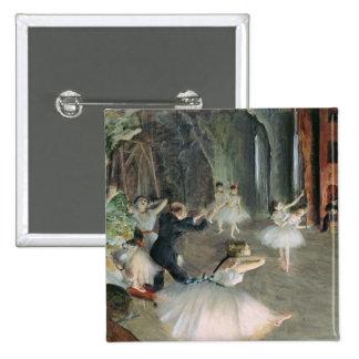 El ensayo del ballet en la etapa, c.1878-79 pin cuadrada 5 cm