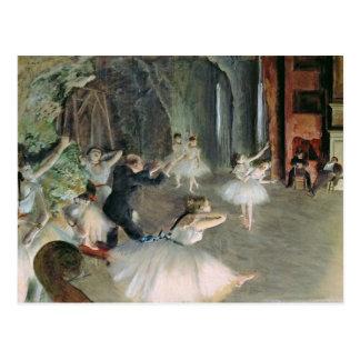El ensayo del ballet en la etapa, c.1878-79 tarjeta postal