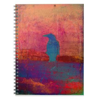 El ensueño del cuervo libro de apuntes con espiral