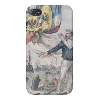 El entente Franco-Ruso iPhone 4 Carcasas
