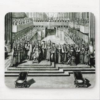 El Enthroning de rey James II y de Queen Mary Tapete De Ratones