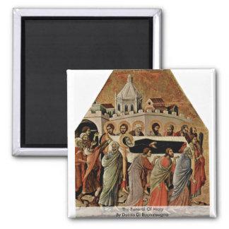 El entierro de Maria de Duccio Di Buoninsegna Imán Cuadrado