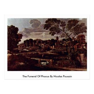 El entierro de Phocus de Nicolás Poussin Postal