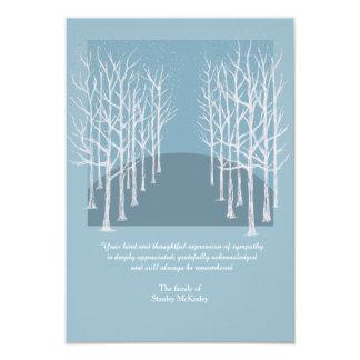"""El entierro desnudo de los árboles le agradece invitación 3.5"""" x 5"""""""