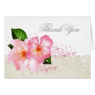 El entierro elegante de la flor de cerezo le agrad tarjeta pequeña