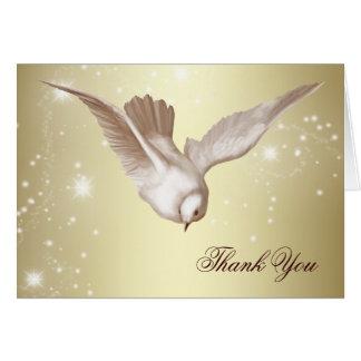 El entierro elegante de la paloma le agradece las  tarjeta pequeña