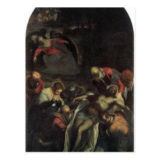 El entierro por Tintoretto Tarjeta Postal