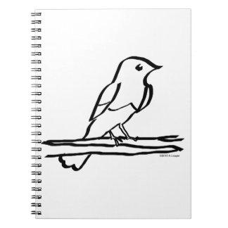 El entintar del pájaro cuadernos