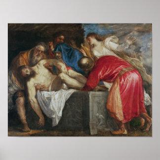 El Entombment de Cristo, 1559 Poster