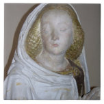 El Entombment, detalle de un santo femenino, 1490  Azulejos Ceramicos