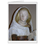 El Entombment, detalle de un santo femenino, 1490  Felicitación