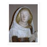 El Entombment, detalle de un santo femenino, 1490 Postal