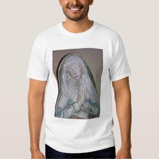 El Entombment, detalle de un santo femenino que Remeras