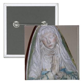 El Entombment, detalle de un santo femenino que ru Pin Cuadrada 5 Cm