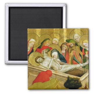 El Entombment, el panel del St Thomas Imán Cuadrado