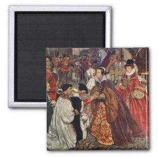 El entrar de Queen Mary y de princesa Elizabeth Imán Para Frigorifico
