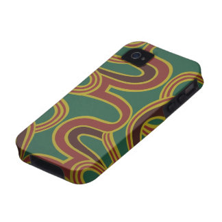 El entrelazamiento curva el papel pintado, 1966-19 Case-Mate iPhone 4 carcasas