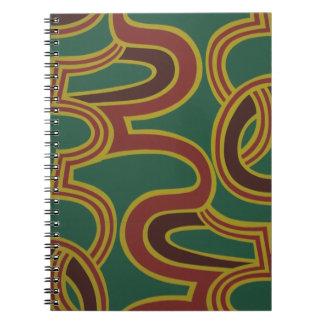 El entrelazamiento curva el papel pintado, 1966-19 cuaderno