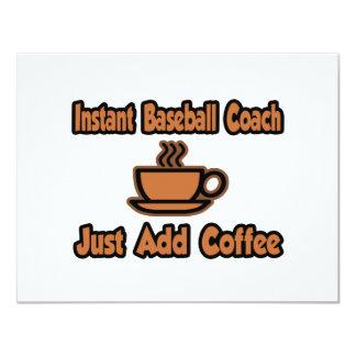 El entrenador de béisbol inmediato… apenas añade comunicado personalizado