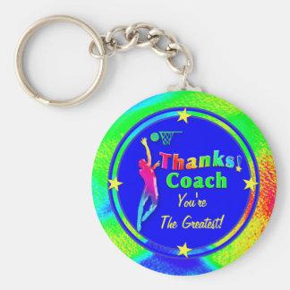 El entrenador de béisbol le agradece llavero