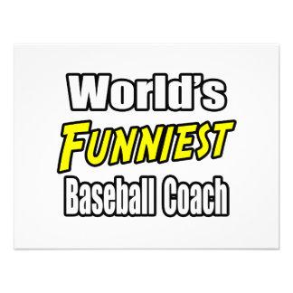 El entrenador de béisbol más divertido del mundo comunicado personalizado